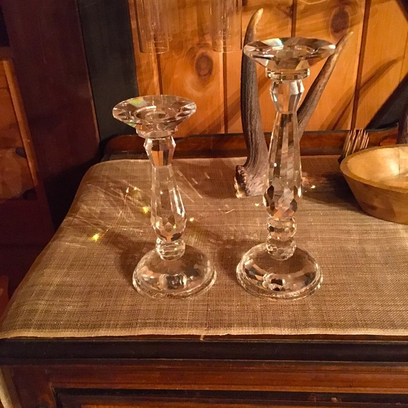Set of 2 Pillar Candle Holders